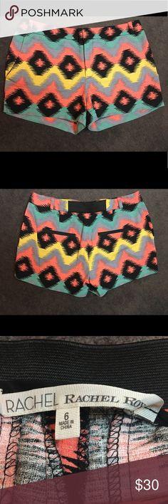 Rachel Roy Summer Aztec Print Shorts Very cute pair of Rachel Roy shorts perfect for a beach trip and cruise! Clearing out my summer haul! Size 6. RACHEL Rachel Roy Shorts Bermudas