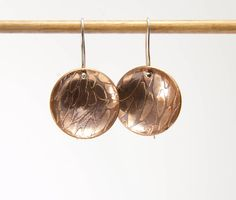 Gift For Her.Boho Earrings by AndonaDesigns on Etsy Copper Earrings, Round Earrings, Boho Earrings, Drop Earrings, Copper Sheets, Leaf Design, Pattern Design, Gifts For Her, Dangles