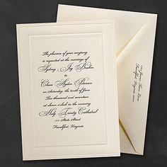 Classic Ecru Invitation - Wedding Invitation Ideas - Wedding Invites - Wedding Invitations - View a Proof Online - #weddings #wedding #invitations