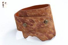 Genuine Leather Wide-Wrap Luxury Bracelet in Autumn (Brown) - Wedding bracelets (*Amazon Partner-Link)