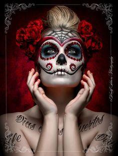 Skull:  Sugar #skull makeup.