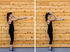 This sculpted arm barre workout uses small, but defined movements to tone your biceps, triceps, & shoulders. At home or in the gym - a perfect arm scorcher