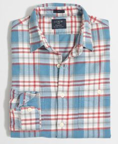 c8d767b53e7 Shop the Slim plaid flannel shirt at J.Crew Factory and see the entire  selection of Men s Shirts.