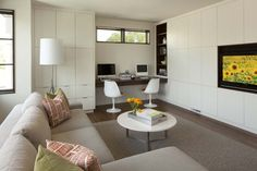 TV Room - contemporary - family room - minneapolis - Charlie Simmons - Charlie & Co. Design, Ltd.