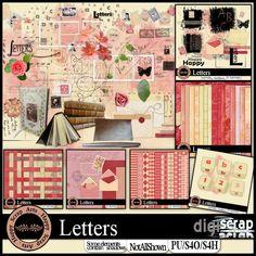 Happy Scrap Arts | Een mooie kit met een tintje vintage. Veel postzegels die mooi te gebruiken zijn bij reisfoto's. Oude foto's zijn ook heel mooi te scrappen met deze kit. <br />