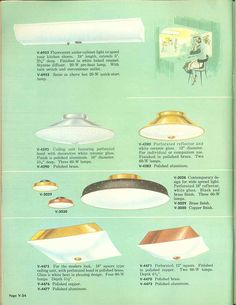 Vintage Virden lighting - 52 page catalog from 1959 - Retro Renovation 1950s Furniture, Catalog Cover, Retro Renovation, Under Cabinet Lighting, Types Of Lighting, Vintage Lighting, House Plants, Diffuser, Period