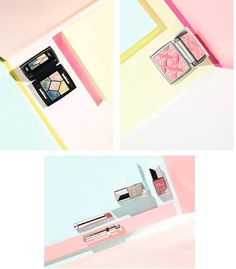 Dior World of Pastels Spring Summer 2015 Collection (exclusively in Japan): #122 Freppy Nude, #585 Poppy Pink