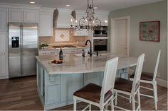 Monogram Design Center manager Paula Cecere interviewed designer Christine Baumann about a recent kitchen remodel for a family following Hurricane Sandy's destruction.