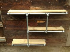 Industrial Iron Pipe 'Shelving Unit' by CetiAlphaVDesign on Etsy