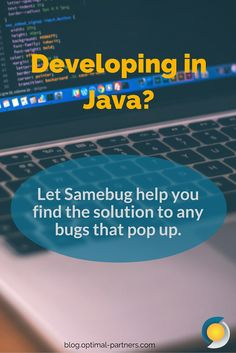 Developing in #Java? Let Samebug help you find the solution to any bugs that pop up.