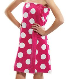 Joelley would love this. Terry Women Bath Wrap Towel Cotton Cover Up Made in USA Velcro Closure - One Size Fuchsia Polka Dotted robesale,http://www.amazon.com/dp/B00C3OWAS6/ref=cm_sw_r_pi_dp_TY.6sb0M2WX7XEHE