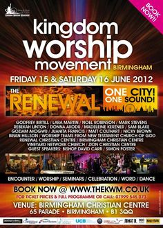 A Worship Revival: The Renewal Comes To Birmingham 15th-16th June 2012