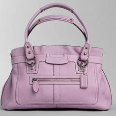 """Essential Style 🌸🎉HP🎉💖Penelope Leather Shopper Style 13164. Soft pebbled leather with patent leather trim Inside zip pocket Cellphone and multifunction pockets Center divider zip pocket Fabric lining Open top with hidden magnetic snaps Outside front zip pocket 18"""" straps with 7 1/4"""" drop 13 (L) x 8 1/4 (H) x 4 (W) Dust bag and tags inclusive. LILAC Coach Bags"""