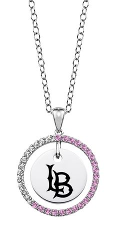 Cal State Long Beach 49ers Pink CZ Necklace