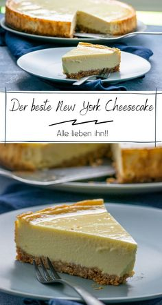 Original New York Cheesecake – cremig und abgöttisch lecker The original New York cheesecake is the most popular cheesecake here, it tastes so incredibly good and can also be prepared in the Thermomix. It tastes a lot like Starbucks. Cheesecake Thermomix, New York Cheesecake Rezept, Homemade Cheesecake, Cheesecake Recipes, Cheesecake Original, Classic Cheesecake, Newyork Cheesecake, A Food, Food And Drink