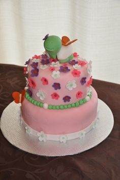 cute turtle birthday cake  By anne_la_banane on CakeCentral.com