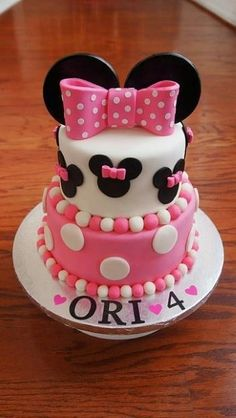 Minnie mouse cake -- Miss CG 2nd bday!