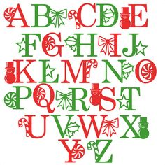 Daily Freebie 12-1-14: Miss Kate Cuttables--Holiday Alphabet svg scrapbook clip art christmas cut outs for cricut cute svg cut files free svgs cute svg cuts