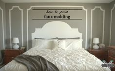 How To Paint Faux Molding.  Beautiful detail!