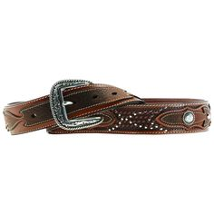 Work, play, lookin cowboy good all the same! This mens Ariat Sidewinder belt from M&F Western features a full grain leather belt; removable decorative silver buckle; superior construction for years of