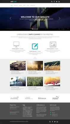 Free Business Web Template PSD Download - cssauthor.com