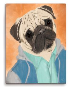 Another great find on #zulily! Pug Life Wall Art #zulilyfinds