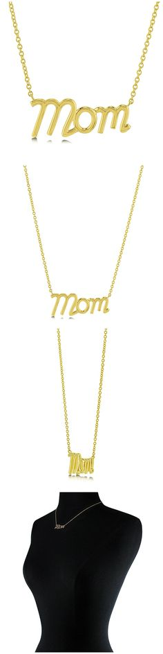 Gold Plated Sterling Silver Mom Fashion Necklace