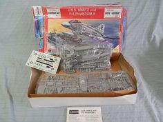 Monogram Air Sea Combat Set No 1 F-4 & USS Nimitz 6083 Model Kit #Monogram