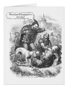 Worst Case Of Dyspepsia - Large Greeting Card. A little medical diagnosis to humour the recipient https://www.zazzle.com/worst_case_of_dyspepsia_large_greeting_card-137545302752538577 #card #vintage #humor #humour #health #medical