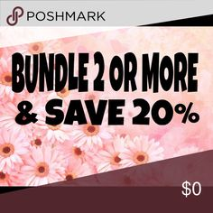 Bundle Deal Bundle and save 20% Other