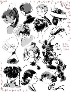"milsae: ""Why I love ponytails and shortcuts. it's because of nape. Art And Illustration, Pretty Art, Cute Art, Drawing Faces, My Drawings, Drawn Art, Wow Art, Character Design References, Character Drawing"