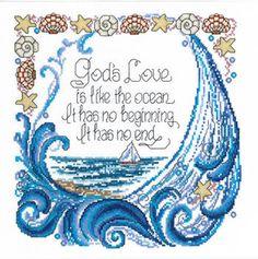God's Love - Cross Stitch Pattern