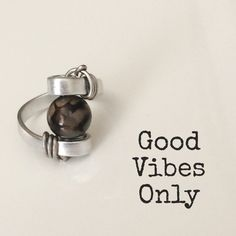 Handmade aluminium ring Good Vibes Only, Silver Rings, Pure Products, Handmade, Jewelry, Hand Made, Jewlery, Jewerly, Schmuck
