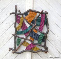 "Escultura de pared tejido contemporáneo ""Prisma"" OOAK"
