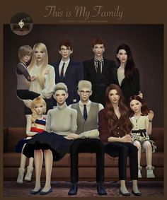 Sims 4 CC's - The Best: FAMILY PORTRAIT POSES SET by FlowerChamber