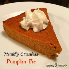 A healthy crustless pumpkin pie that not only is healthy for you, but still tastes great! Check out Amee's recipe that also is 21 Day Fix approved and yum.