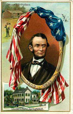 KENTUCKY: Abraham Lincoln Birthplace, Hodgenville. 1909 Raphael Tuck & Sons embossed postcard. #Lincoln #postcard #ephemera #Kentucky