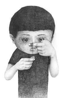 Me trying to remember what i was suposed to remember. ~ja.  Drawings by  Stefan Zsaitsits