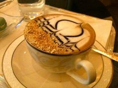 Gold cappuccino at Emirates Palace in Abu Dhabi - with real gold . Pray for the wealth of this land to be shared with the poor. Abu Dhabi, Dubai, Ras Al Khaimah, Tasty, Yummy Food, Yummy Recipes, Best Hotel Deals, United Arab Emirates, Eat Cake