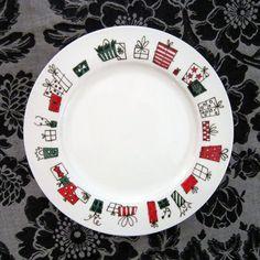hand painted plate! www.loinlondon.com:                                                                                                                                                                                 More