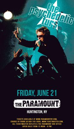 Psychedelic Furs LIVE in Concert at The Paramount (Huntington, NY) on April The Psychedelic Furs, Paramount Theater, Concert Posters, Movie Posters, Punk Art, Album Covers, Lyrics, Presents, Butler