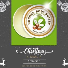 We are happy to announce 10% OFF on our Entire Store. Coupon Code: XMAS17.  Min Purchase: N/A.  Expiry: 27-Dec-2017.  Click here to avail coupon: https://small.bz/AAq1IEg  #blackgirlsrock #beauty #naturalhair #skincare #instabeauty #bblogger #healthyhair #beautyblog #beautycare #beautytips #glowingskin #sheabutter #beautyskin #bodybutters #sheabuttersoap #sheabutterproducts #skinplug #drshea #allnatural #vegan #natural #girlboss #organic #melanin       🎅🏽3 FOR £10 WINTER WARMER 🎁