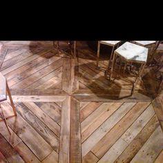 Love this floor pattern! Hard wood