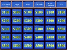 Jeopardy Labs  Free Jeopardy Template To Create Educational Games