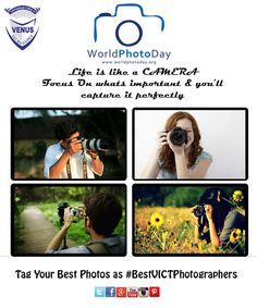 fe is like a CAMERA Focus On whats important & you'll capture it perfectly. Venus International College Of Technology wishes all of you delightfull Photography Day. Tag You Best Photographs as ‪#‎BestVICTPhotographers‬ and share your memories with us.  ‪#‎BestClick‬ ‪#‎memories‬ ‪#‎captures‬ ‪#‎snaps‬ ‪#‎photography‬ ‪#‎Bestcapture‬ ‪#‎BestShot‬ ‪#‎share‬ ‪#‎VICT‬ ‪#‎venus‬ ‪#‎campus‬ ‪#‎gandhinagar‬ ‪#‎gujarat‬ ‪#‎technology‬ ‪#‎college‬