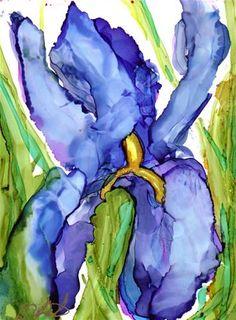 """""""Iris Uno"""" - Original Fine Art for Sale - © Kat Aaron-King"""