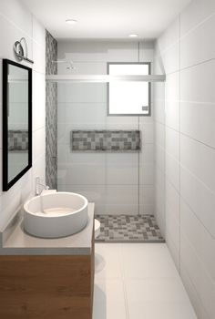 Apartment bathroom design ideas tubs Ideas for 2019 - Apartment Wishlist - Bathroom Decor Apartment Bathroom Design, Diy Bathroom Remodel, Shower Remodel, Bathroom Design Small, Bathroom Layout, Bathroom Interior Design, Bathroom Renovations, Bathroom Wall, House Remodeling