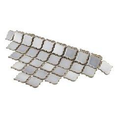 Shop SomerTile 12.375x12.5-inch Antaeus Grey Eye Porcelain Mosaic Floor and Wall Tile (10 tiles/10.7 sqft.) - Overstock - 9812411 Mosaic Wall, Mosaic Tiles, Wall Tiles, L Shaped Kitchen Designs, Marine Colors, Feature Tiles, Sapphire Color, Black Floor, Grey Tiles