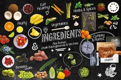 176 Isolated Food Chalk Kit on Behance
