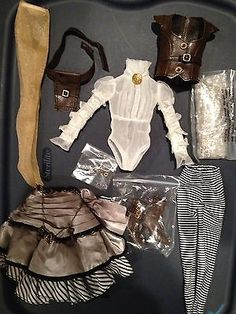 """Tonner Wilde Imagination 16"""" Doll Clothes for Ellowyne Thea Steampunk Outfit 